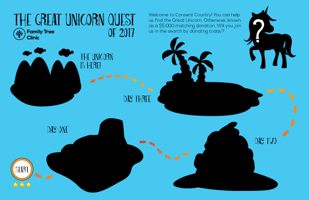 The Great Unicorn Quest map